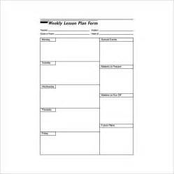 free weekly lesson plan template weekly lesson plan template 10 free sle exle