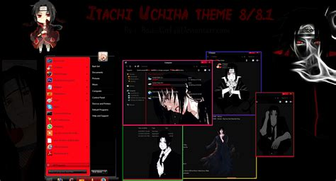 girl themes for windows 8 1 itachi uchiha theme for windows 8 8 1 by bad girl on