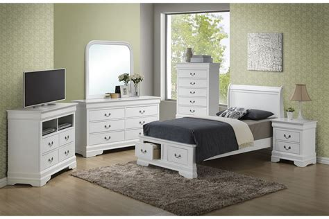 twin size bedroom furniture sets bedroom sets dawson white twin size storage bedroom set