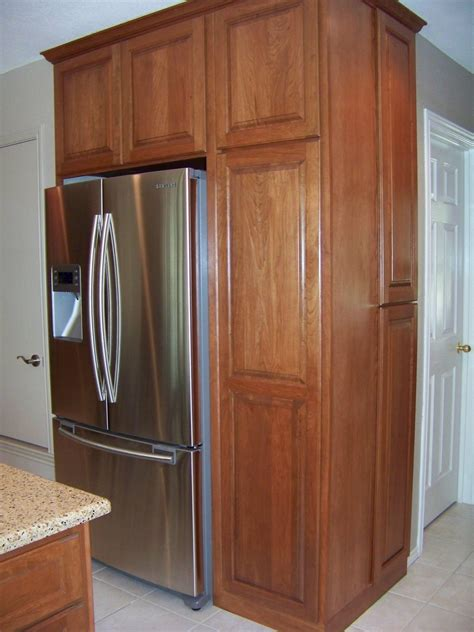 Built Kitchen Cabinets by Built In Refrigerator Cabinet Surround Traditional
