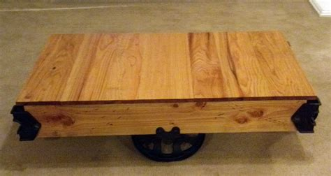 How To Restore A Coffee Table Did You Learn How To Build A Factory Cart Coffee Table Reading This Then Actually Built
