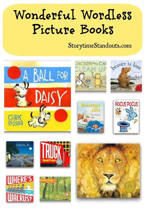 picture story books wordless picture books