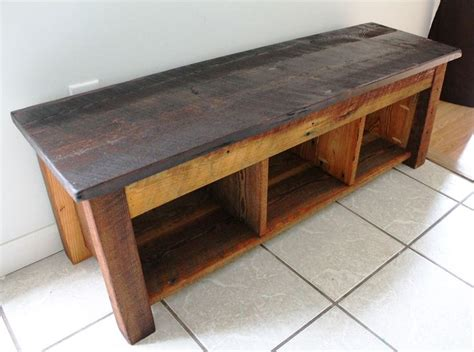 Handmade Bench - handmade bench shelves storage reclaimed barn