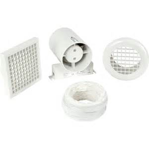 100mm part l inline shower extractor fan kit with timer