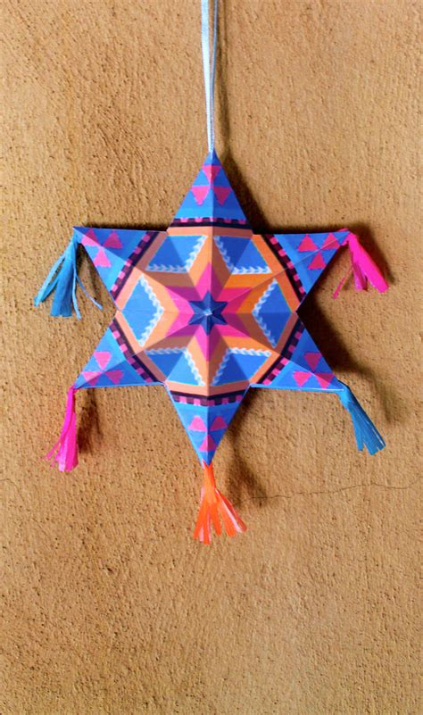 make your own mexican paper star ornaments diy tutorial