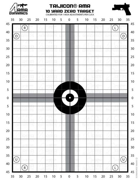 printable ar 15 zeroing targets 50 yard zero target pictures to pin on pinterest pinsdaddy
