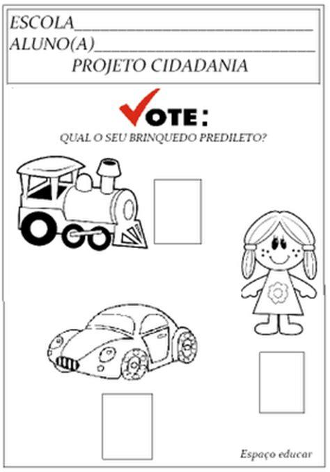 Atividade para Educação Infantil: Vote no seu brinquedo