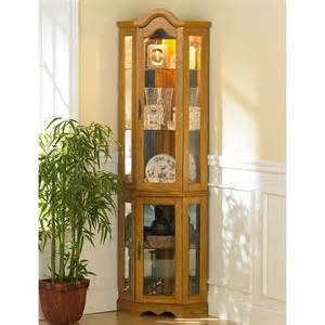 Corner Curio Cabinet For Kitchen Ambridge Corner Curio Cabinet