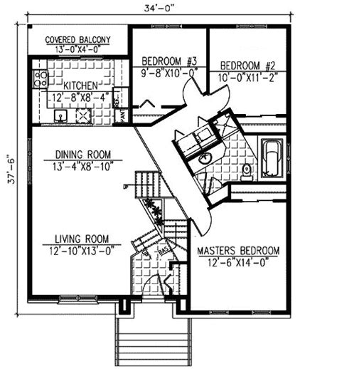 Split Level Floor Plan by Split Level With In Apartment 90191pd