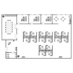 Nursing Home Interior Design office layout plan