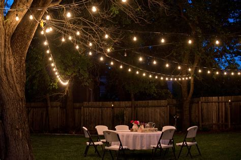 backyard lighting for a party domestic fashionista backyard anniversary dinner party