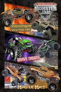 monster jam montage poster sold europosters