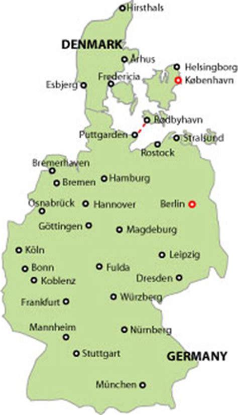 germany denmark map germany denmark