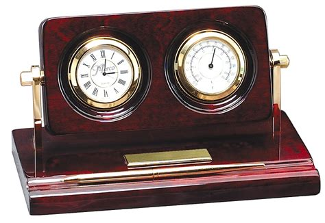 desk clock pen set personalized rosewood clock thermometer pen desk set