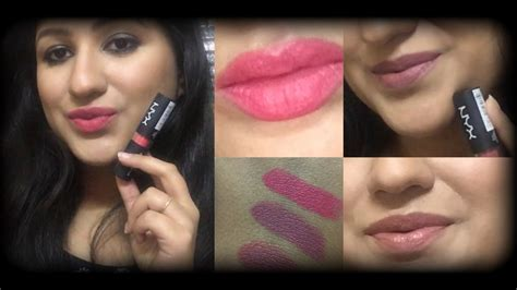 Nyx Matte Lipstick Review nyx matte lipstick lip swatches review giveaway