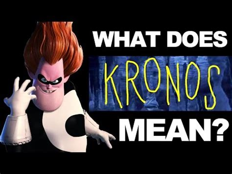 what does kronos mean? | daikhlo