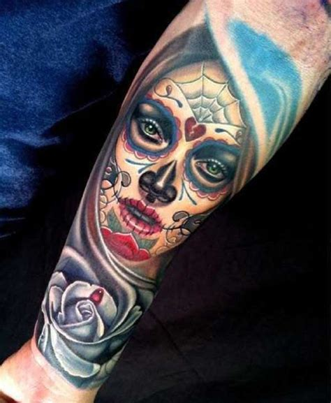best 24 day of the dead tattoos design idea for men and