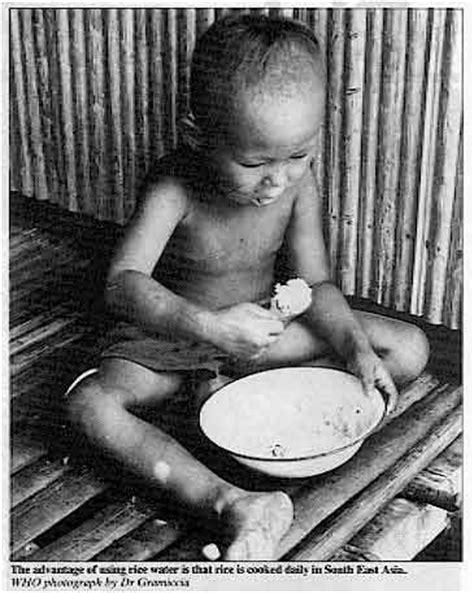 rice water diarrhea