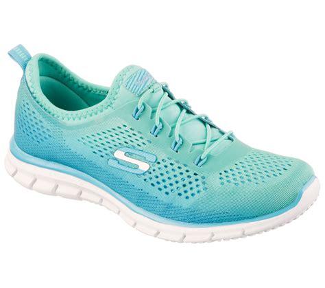 Skechers Skech Knit Green Blue Running buy skechers stretch fit glider fearlessskechers sport