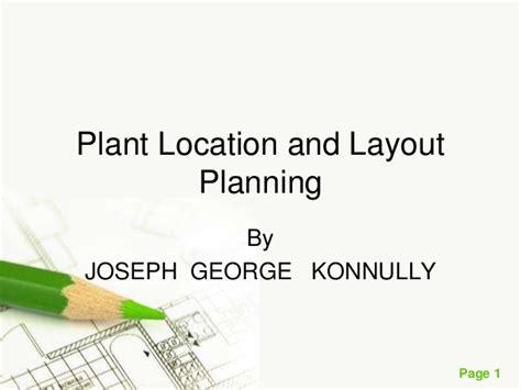 workshop layout and plant location plantlocationandlayoutplanning