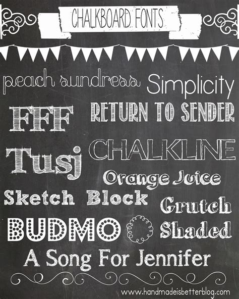 Wedding Running Fonts by Chalkboard Font Archives Handmade Is Better
