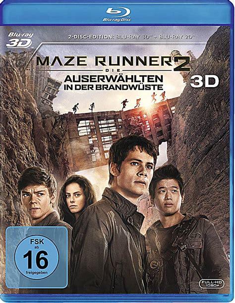 Bluray Maze Runner Part 1 2 maze runner 2 die auserw 228 hlten in der brandw 252 ste 3d weltbild de
