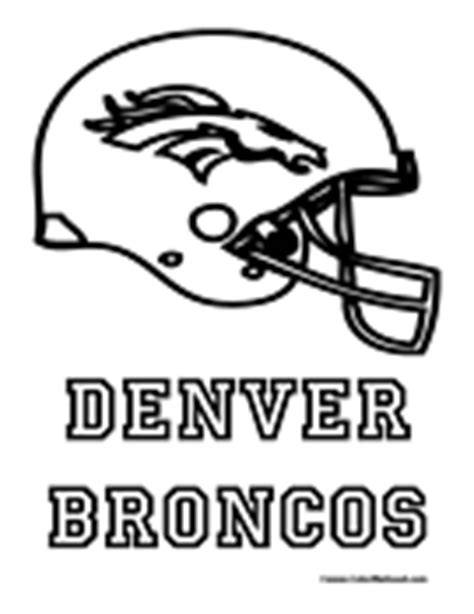 nfl coloring pages broncos nfl coloring pages