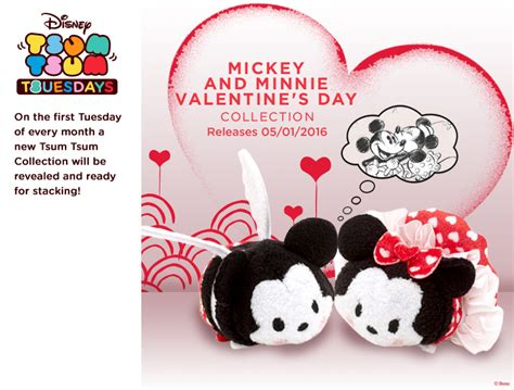 s day releases 2015 new mickey and minnie s day tsum tsum set to be