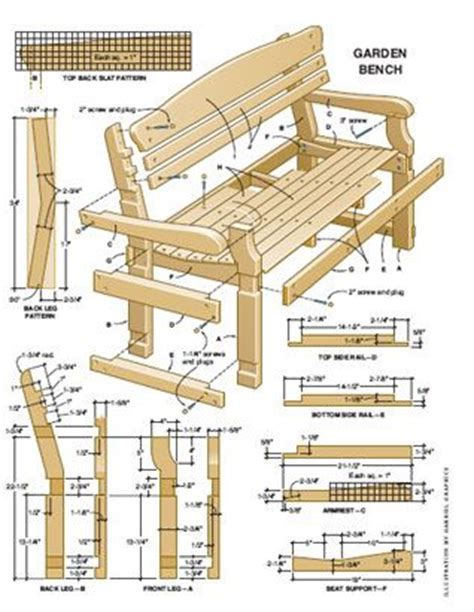 free woodworking project plans pdf bench measurements plan exle 3 garden furniture