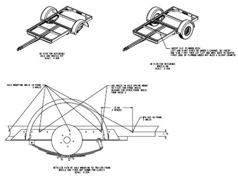 4x8 Utility Trailer Drawings Houses Plans Designs Building Plans For Utility Trailers