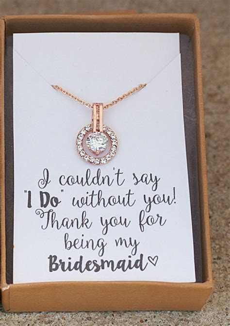 Wedding Gift Necklace by Bridesmaid Necklace Bridesmaid Gift Personalized Wedding