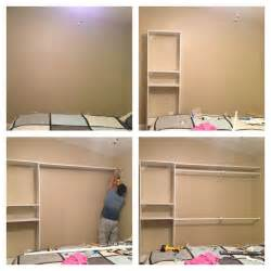 diy closet a plain wall need more closet space