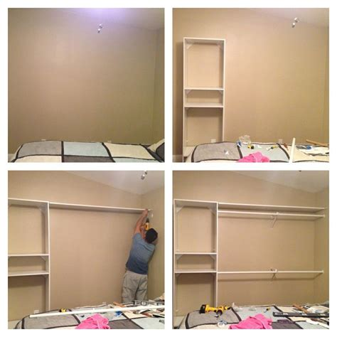 Make Your Own Built In Wardrobe by Diy Closet A Plain Wall Need More Closet Space