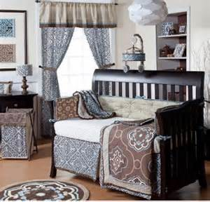 brown and blue baby nursery ideas for baby boys and