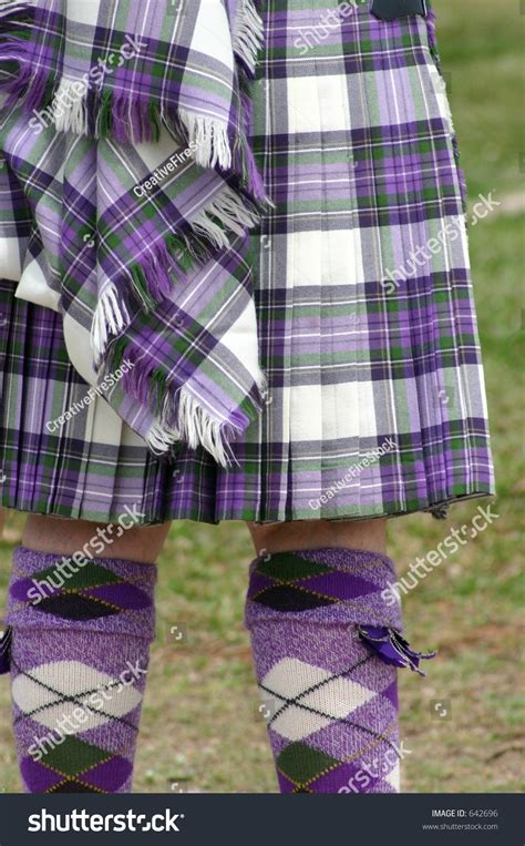 pattern colorful kilt colorful scottish tartan kilt and matching argyle socks