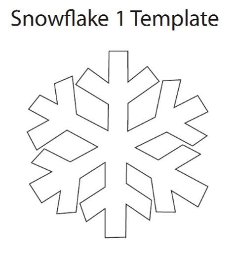 easy snowflake template search results for simple snowflake patterns to cut out