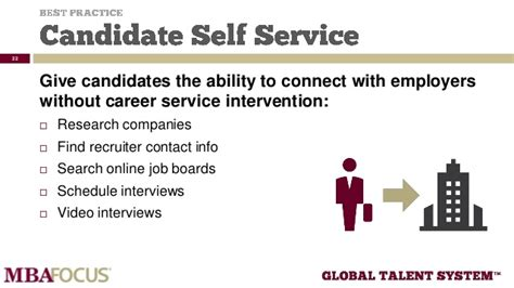 Best Career Services Mba by Best Practices For Mba Career Service Offices