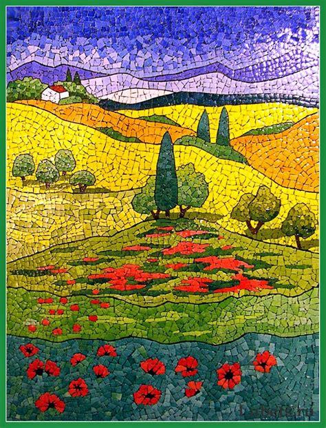mosaic pattern landscape beautiful eggshell mosaic designs by lyubov meshakina