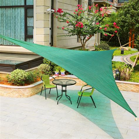 Block Sun On Patio by Lyshade 16 5 Quot Right Triangle Sun Shade Sail Canopy Uv