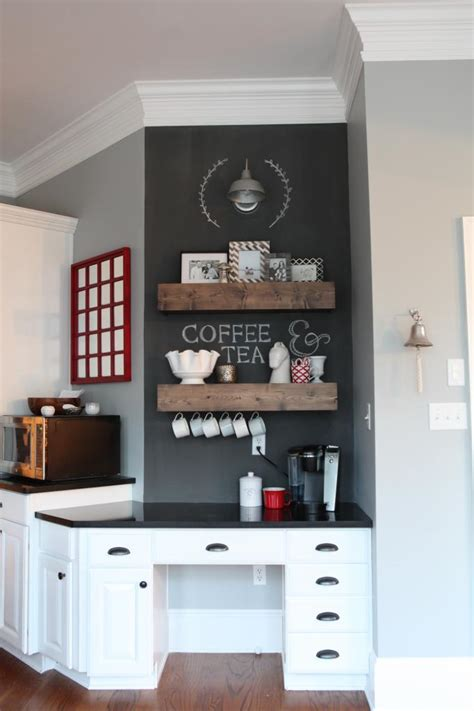 add a coffee or beverage station to your kitchen modernize