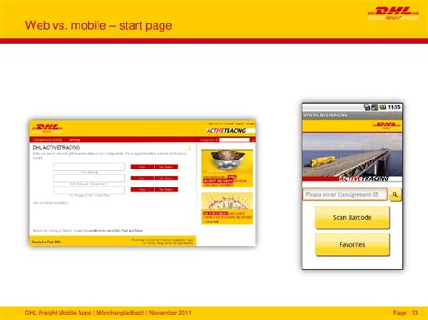 dhl mobile mobile applikationen dhl freight