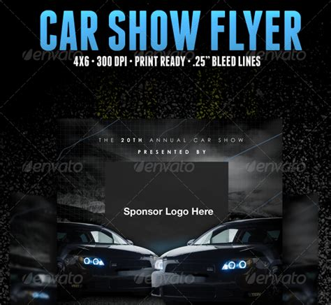 5 Free Car Show Flyer Templates Excel Pdf Formats Show Templates
