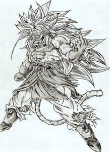 god broly free colouring pages