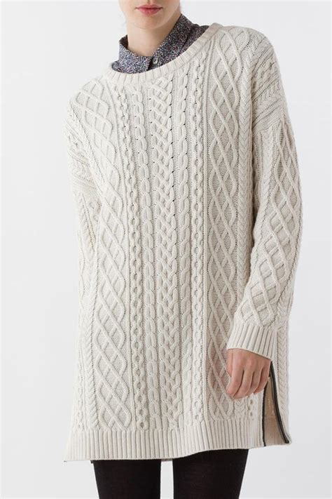 cable knit tunic margaret o leary cable knit tunic from minnesota by the