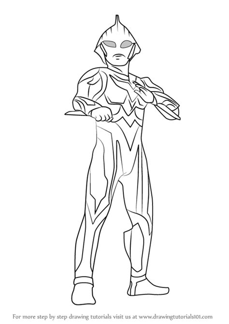 coloring page ultraman learn how to draw ultraman nexus ultraman step by step