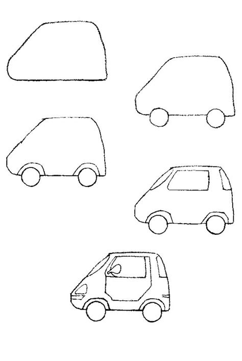 how to draw a car step by step pencil drawing 95 best dibujo transporte images on drawing