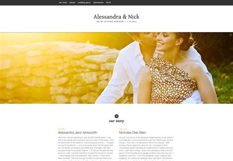 Wedding Photo Website by 25 Wonderful Wedding Websites Webdesigner Depot