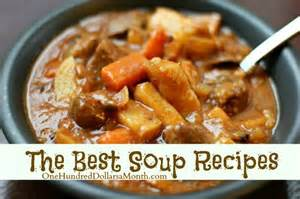 recipes the best soup recipes one hundred dollars a month