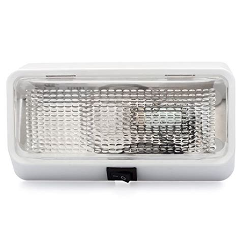 rv exterior light lenses lumitronics rv exterior porch light with on off switch and
