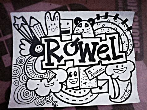 doodle names tutorial doodle for rowel by jonna by jonnameetsart on deviantart
